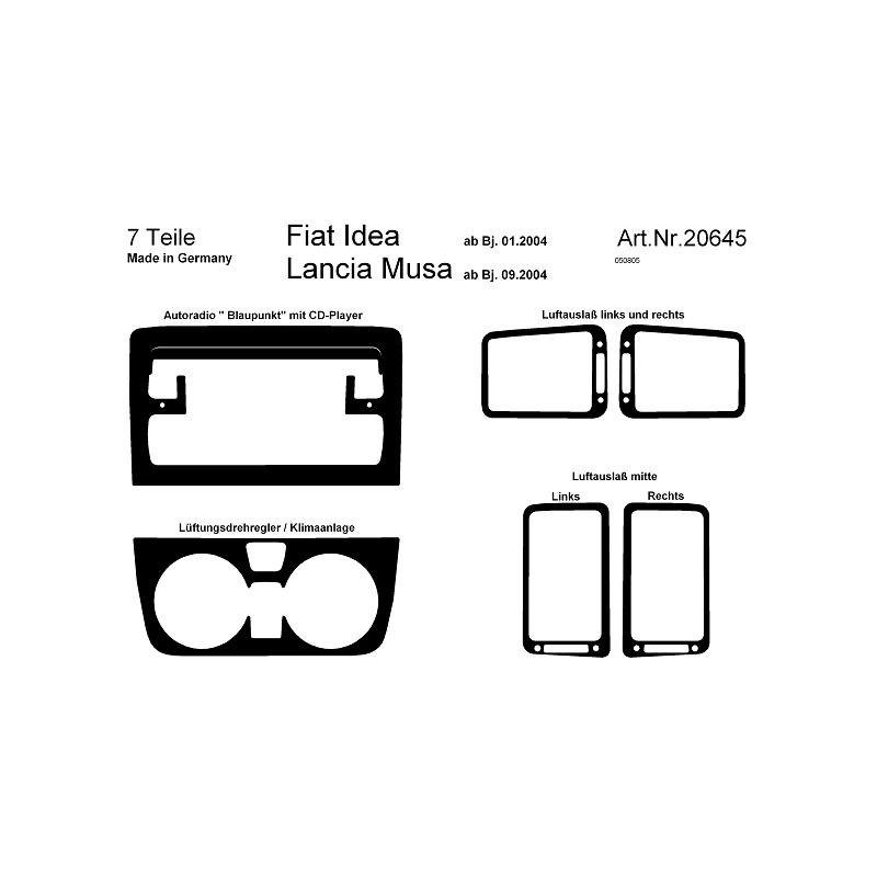Fiat Idea Interieurset online kopen bij Site4Cars